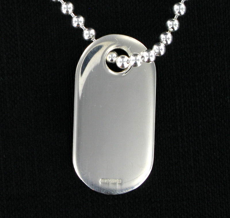 "Dog Tag & 20"" Ball Chain with Presentation Box"