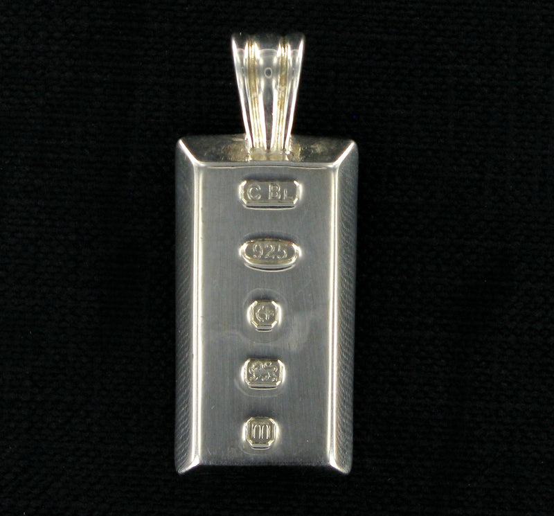 Large Solid Silver Ingot with Presentation Box