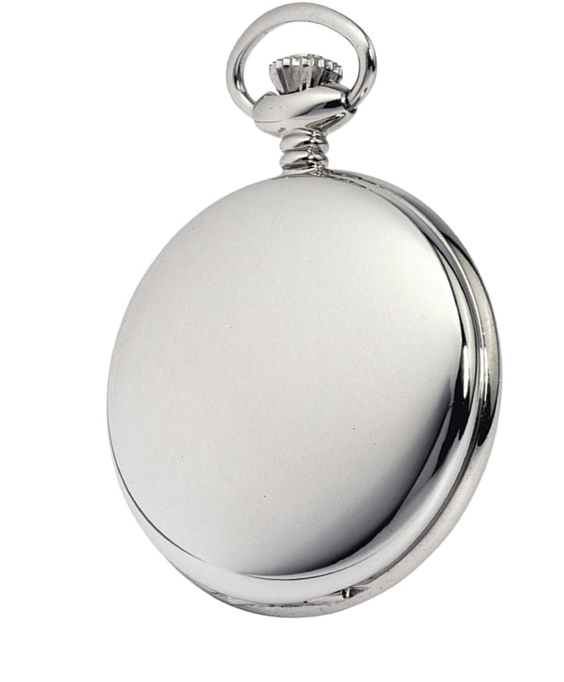 Swiss Movement Chrome Pocket Watch by Woodfords CHR1012