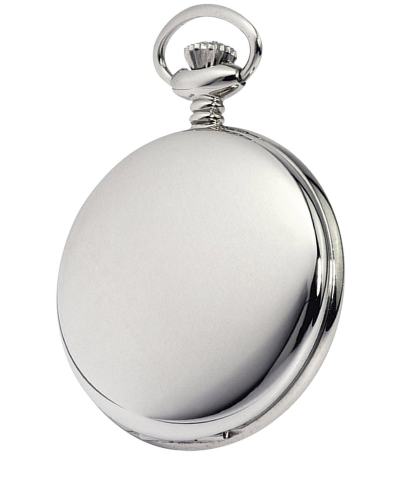 Budget Chrome Full Hunter Pocket Watch by Burleigh CHR1231