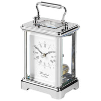 Chrome Ticking 'OBIS' Carriage Clock CHR1432