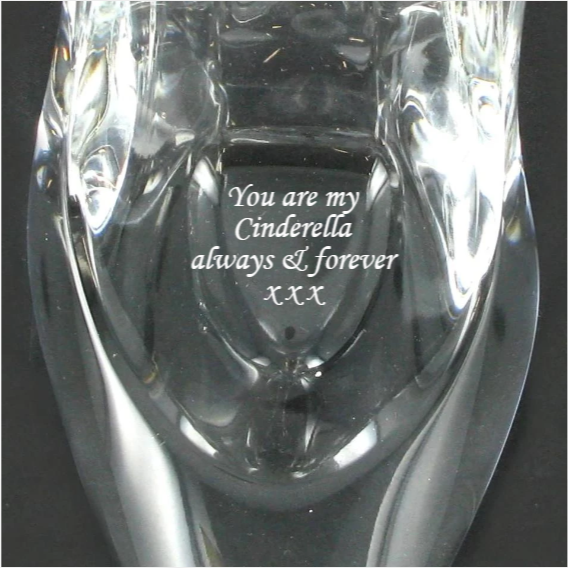 Cinderella Glass Shoe Personalised