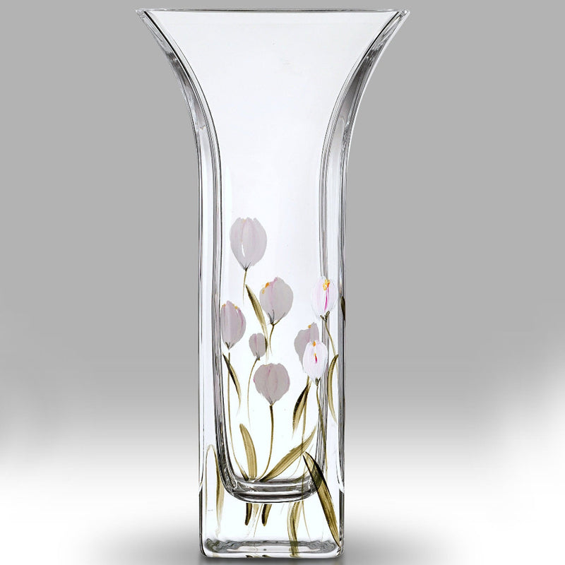 Nobile Crocus Lotus White Flared Vase - 22.5cm