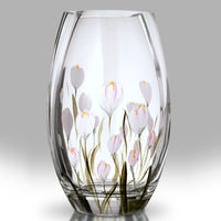 Nobile Crocus Lotus White Roundish Vase - 20cm