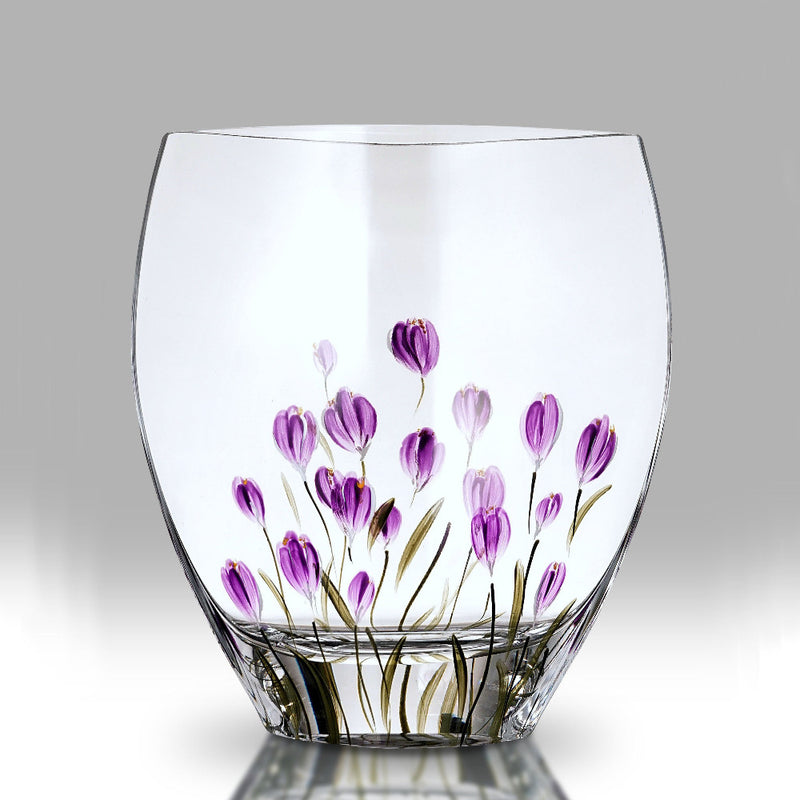 Nobile Crocus Mulberry Curved Vase - 21cm