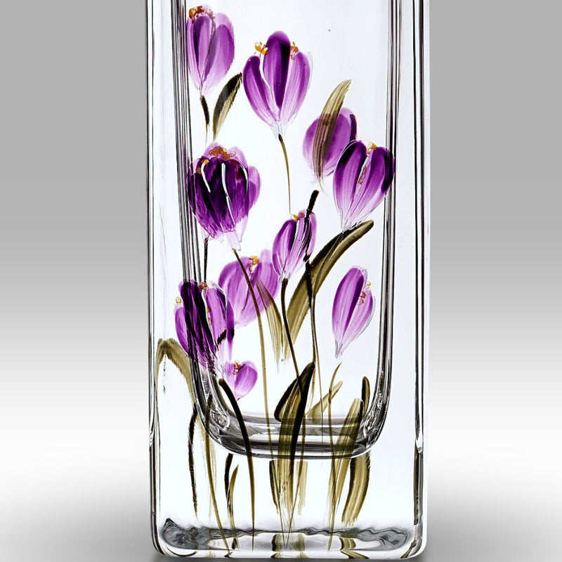 Nobile Crocus Mulberry Flared Vase - 22.5cm