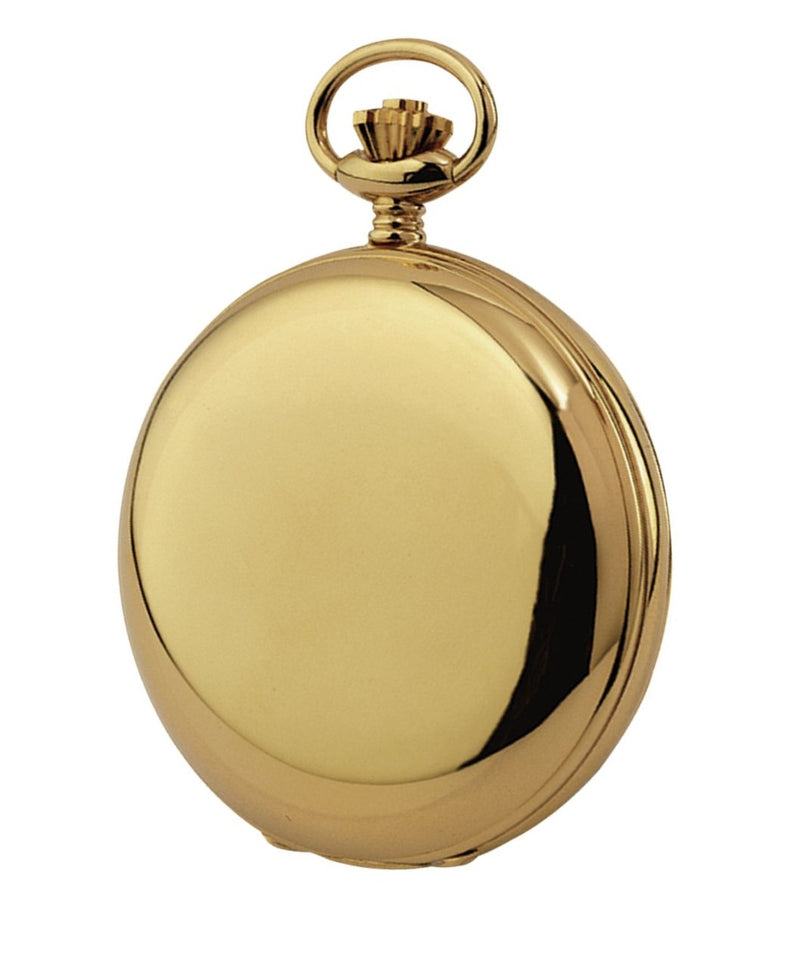 Budget Gold Plated Full Hunter Pocket Watch by Burleigh GP1230