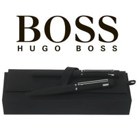 Hugo Boss Black Loop Smooth Rollerball and Ballpoint Pen Set