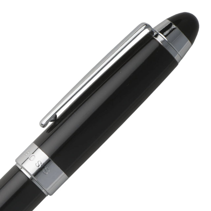 Hugo Boss Icon Fountain Pen, Black Lacquer