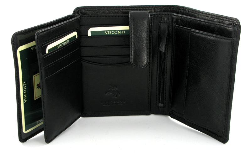Visconti Heritage HT11 Brixton Soft Black Leather wallet