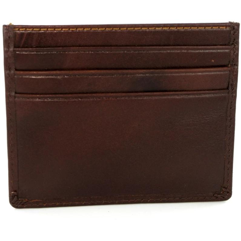 Visconti Monza MZ1 Pompei Brown Italian Leather Credit Card Holder