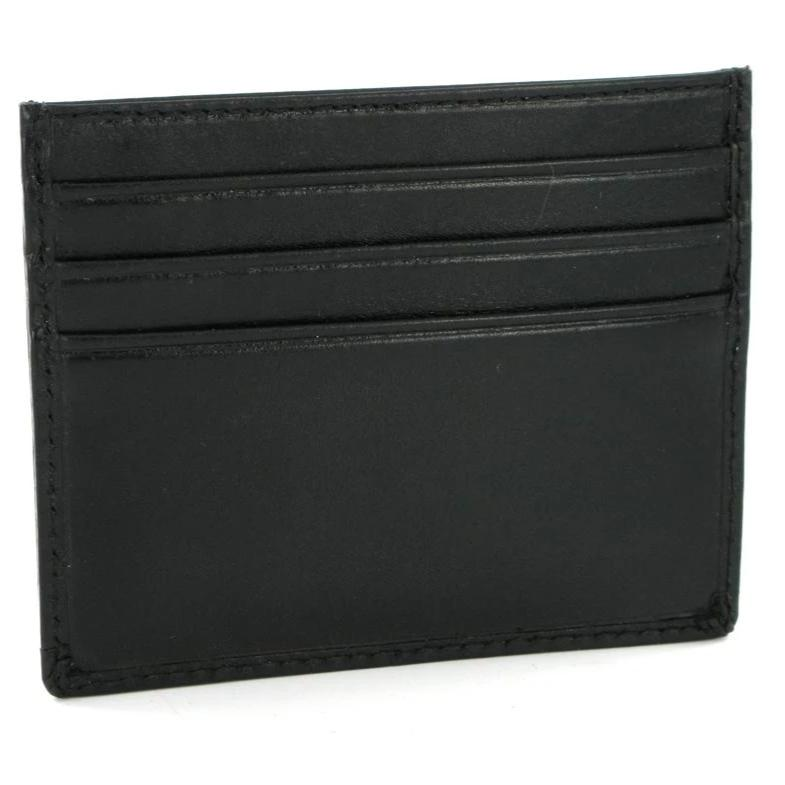 Visconti Monza MZ1 Pompei Black Italian Leather Credit Card Holder