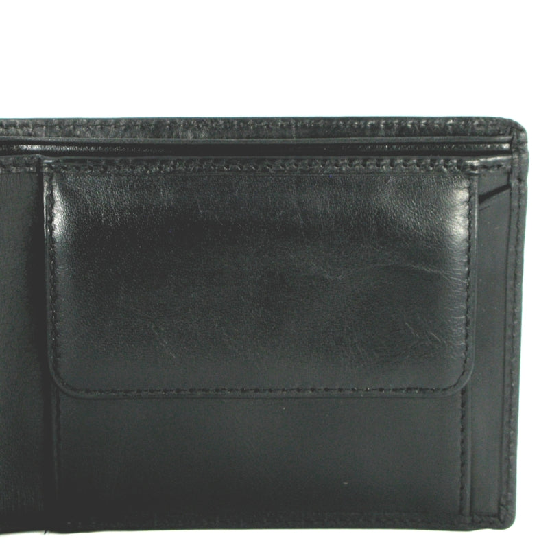 Visconti Monza MZ4 Lazio Italian Black RFID Leather Wallet