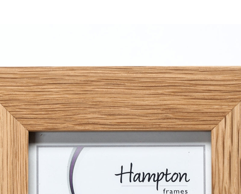 "New England Solid Oak Wood 6"" x 4"" Portrait Photo Frame by Hampton"