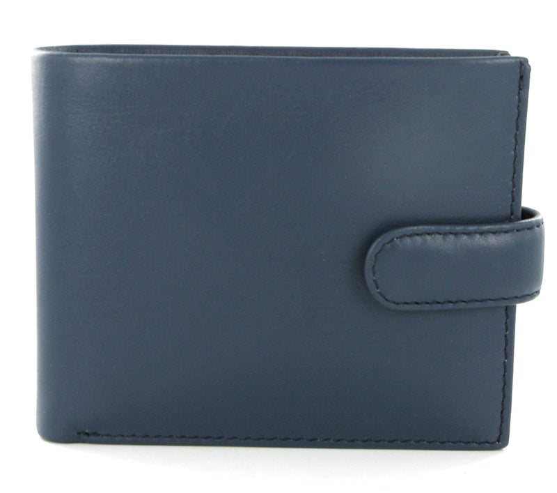 Visconti Parma PM100 Vincent Blue Mustard Soft Leather Wallet