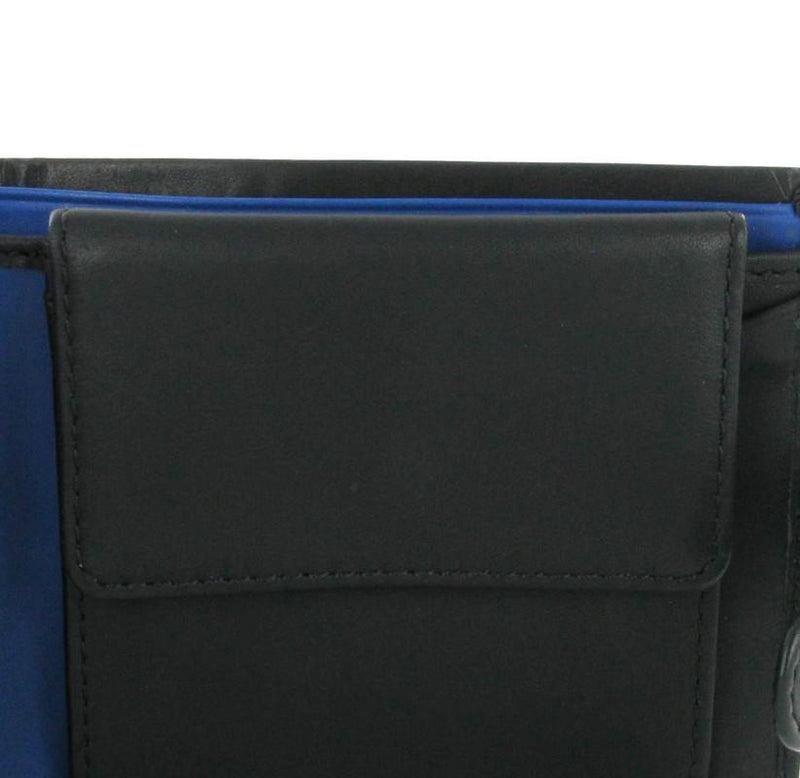 Visconti Parma PM102 Black'n'Blue Soft Leather Wallet