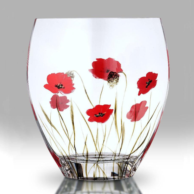 Nobile Poppy Fields Curved Vase - 21cm