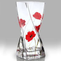 Nobile Poppy Fields Twist Vase - 20cm