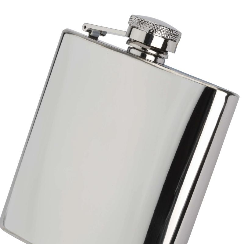 Hip Flask Polished Steel 4oz