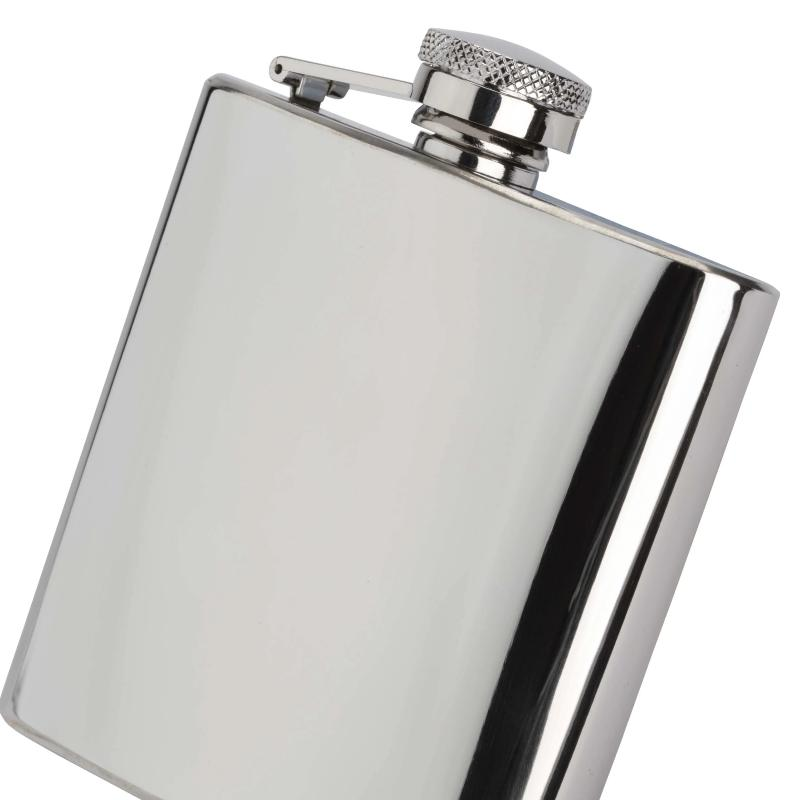 Hip Flask Polished Steel 6oz