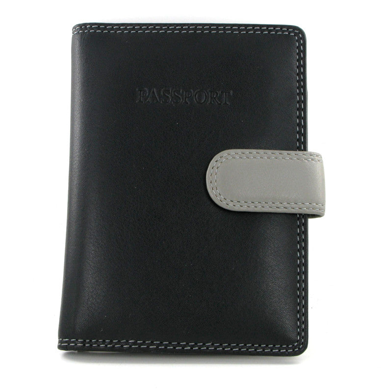 Visconti Rainbow Passport Holder RB75 Black Multi