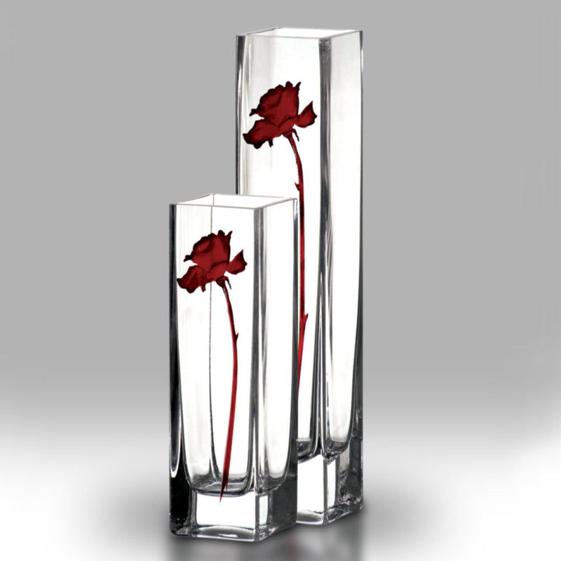 Nobile Ruby Single Rose Vase - 30cm