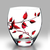 Nobile Ruby Leaf Curved Vase - 21cm