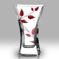 Nobile Ruby Leaf Flat Flared Vase - 23cm