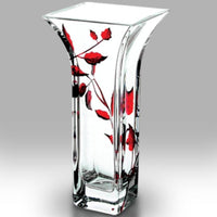 Nobile Ruby Leaf Flared Vase - 22.5cm
