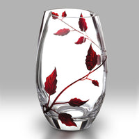 Nobile Ruby Leaf Roundish Vase - 20cm