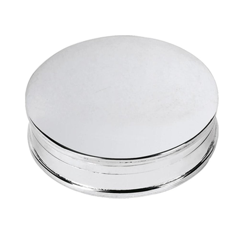 Pill Box Round 925 Solid Silver 4074