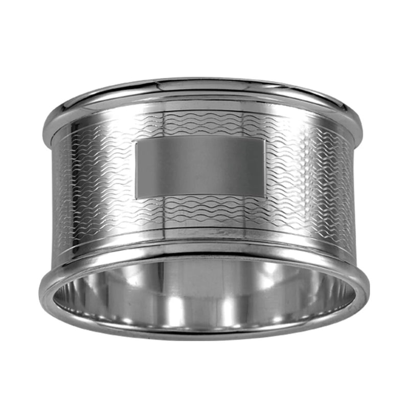 Napkin Ring Engine Turned 925 Solid Silver 4080