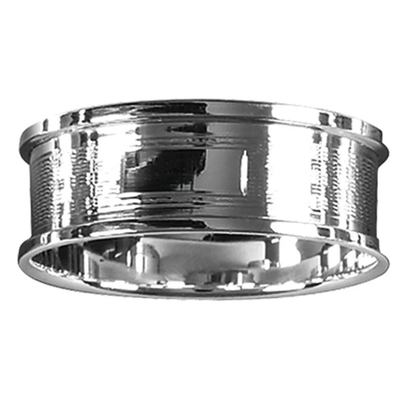 Slim Napkin Ring Engine Turned 925 Solid Silver 4082