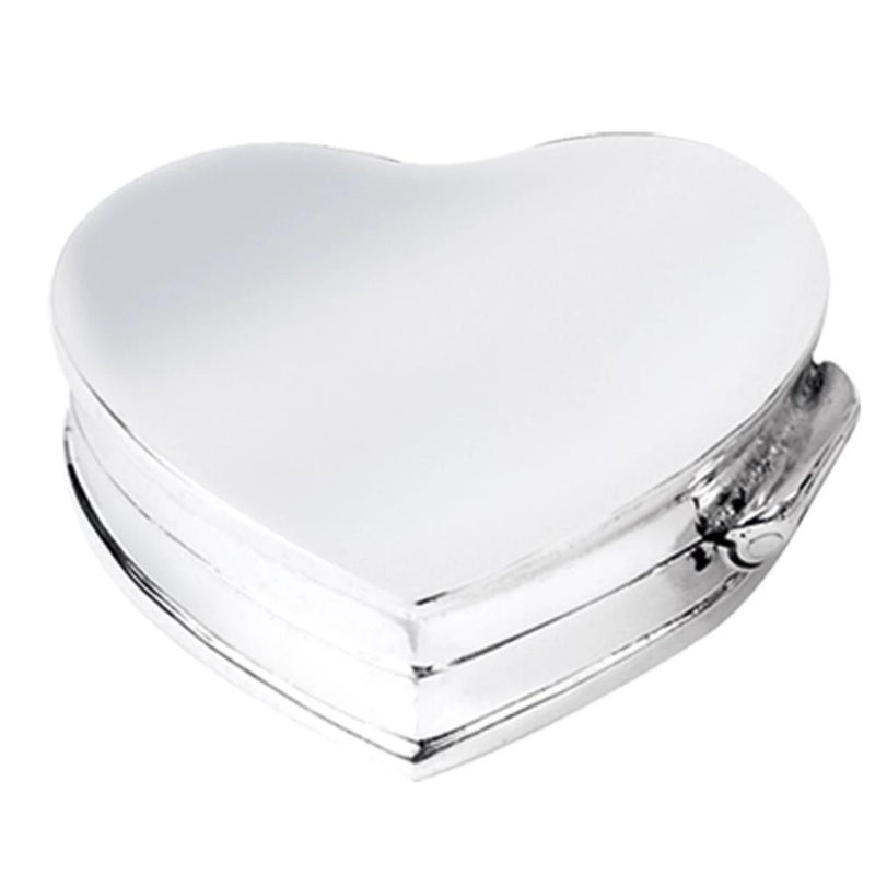 Pill Box Heart Shape 925 Solid Silver 4371