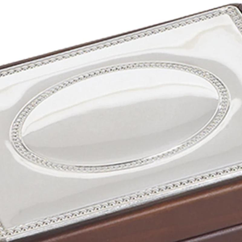 Silver Top Trinket Box Large 6040L