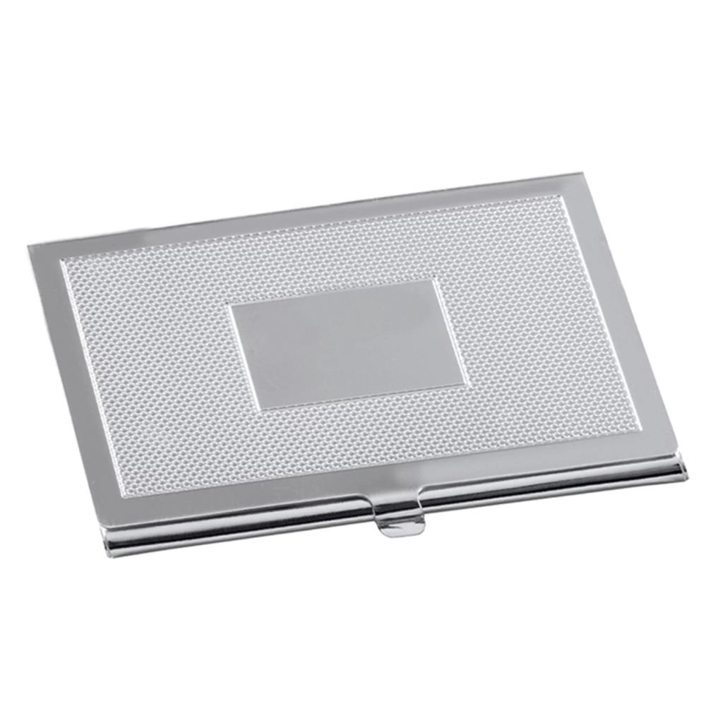 Business Card Holder 925 Silver Panel 7854