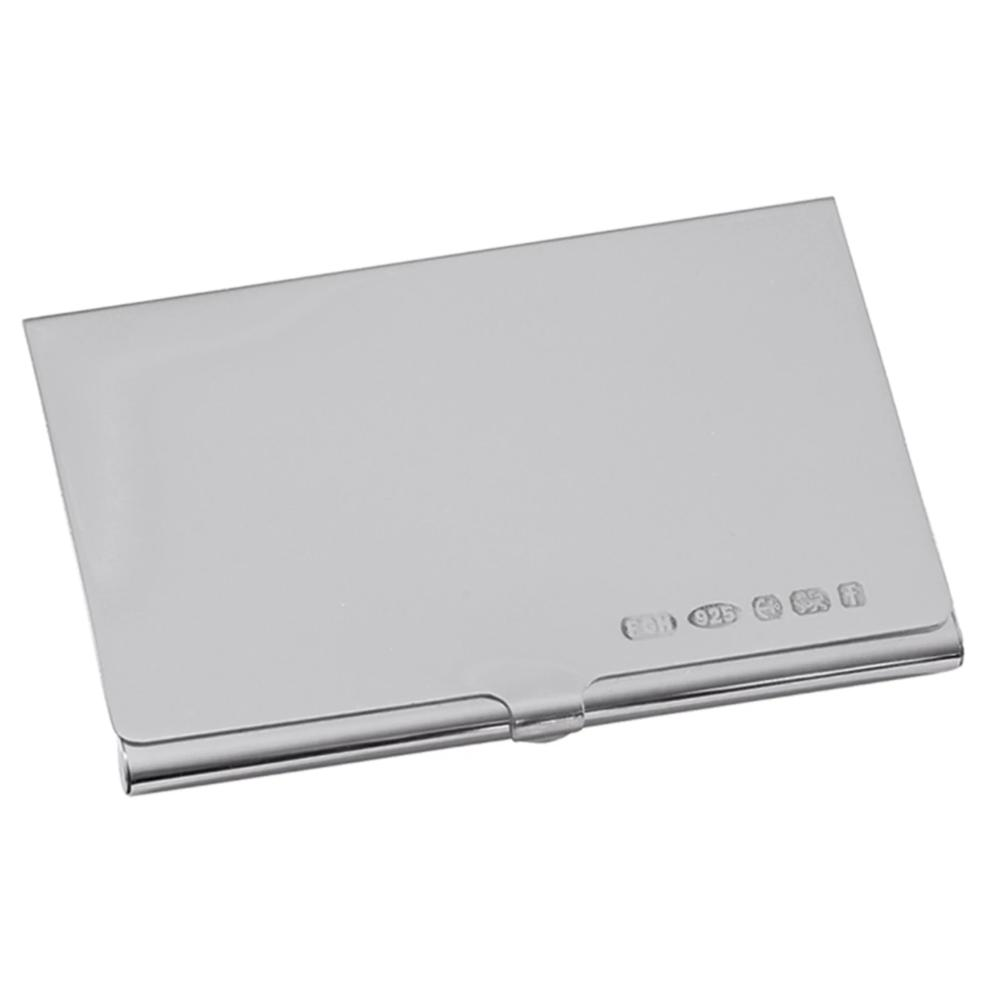 Business Card Holder Polished 925 Silver 8509