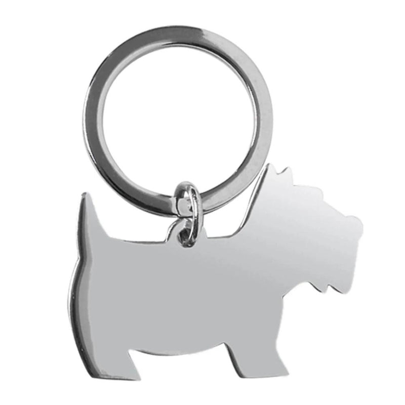 Scottie Dog Keyring 925 Hallmarked Silver 8792