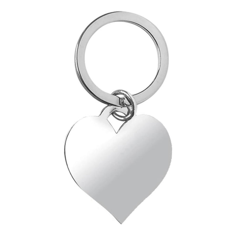 Heart Keyfob Silver Plated EP9350