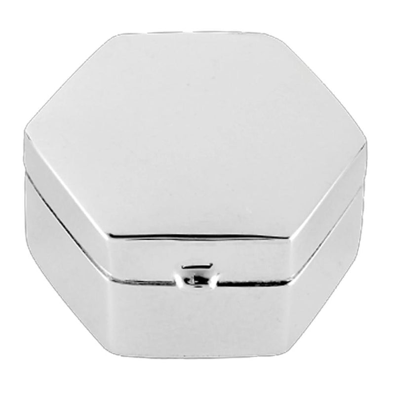 Pill Box Pentagon Shape 925 Solid Silver 9485