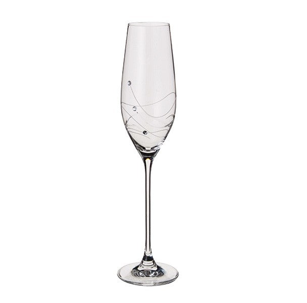 Dartington Crystal Glitz Champagne Flute Glasses