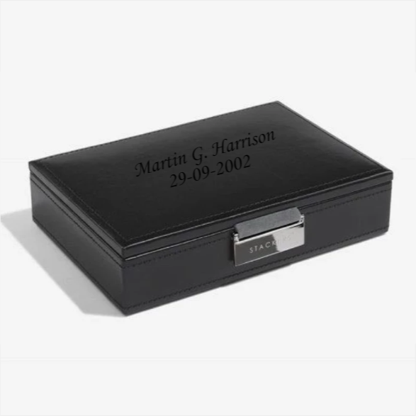 Stackers Executive Black Cufflink Box 73184