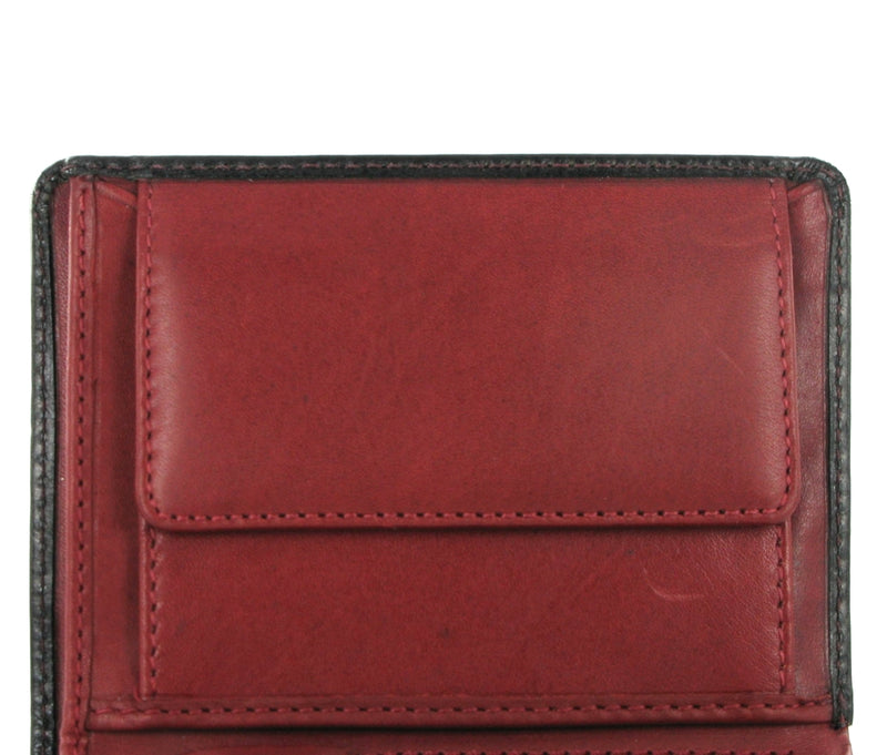 Visconti Torino TR34 Waldorf Black & Red Leather Wallet