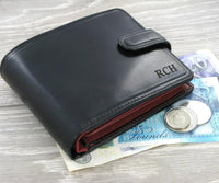 Visconti Torino TR35 Luxury Black & Red RFID Leather Wallet