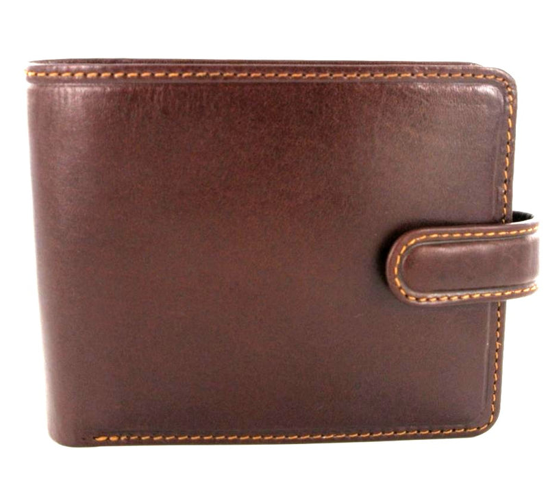 Visconti Torino TR35 Luxury Brown & Tan RFID Leather Wallet