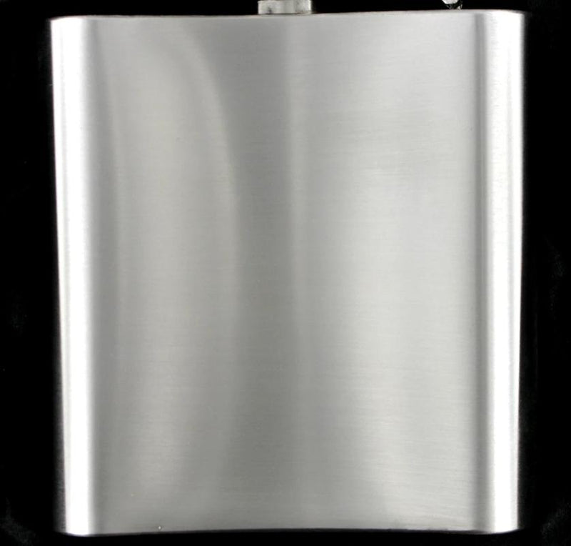 Hip Flask 6oz Brushed Steel