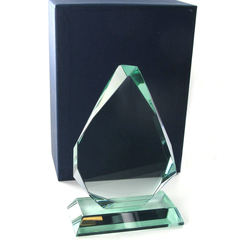 Swatkins Jade Glass Pyramid Award 128mm tall