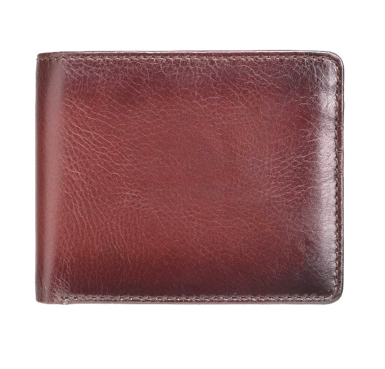 Visconti Atelier AT60 Luxury Cash & Coin Wallet Burnish Tan