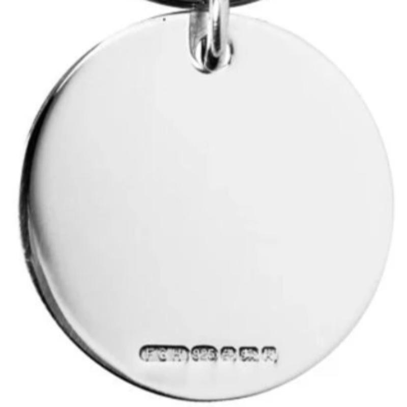 Round Keyring Solid Silver 28mm diameter