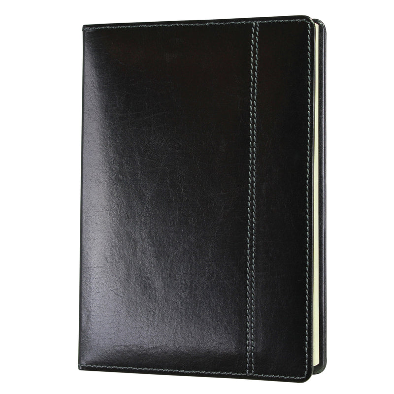 Dulwich Heritage Black Leather A5 Notebook 70863